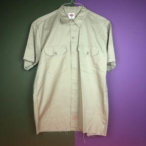 Medium dickies work shirt with raw hem